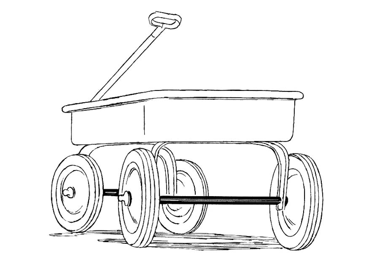 Coloring page cart