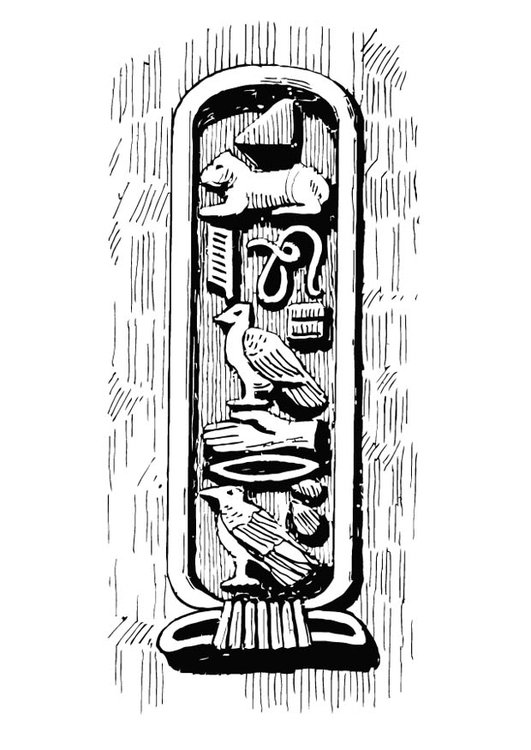 Coloring page cartouche
