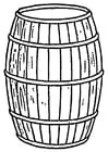 Coloring page cask