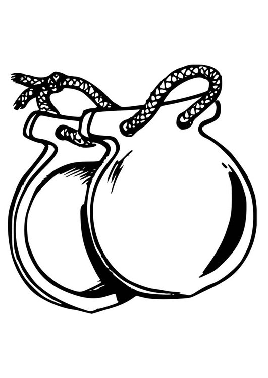 Coloring page castanets