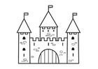 Coloring pages castle - 2
