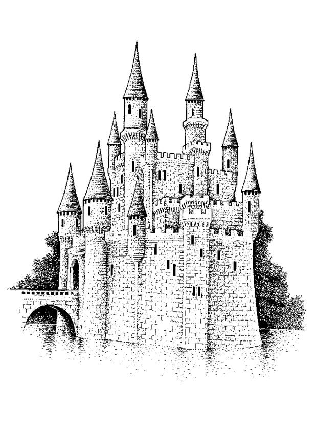 Coloring Pages medieval times castles that are huge - Printable .