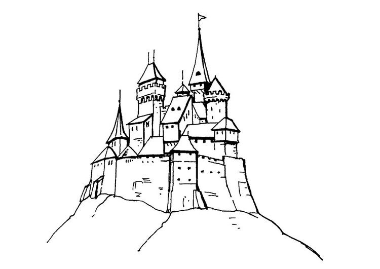 Castle Front Coloring Pages Google Search Castle Front Coloring ... | 531x750
