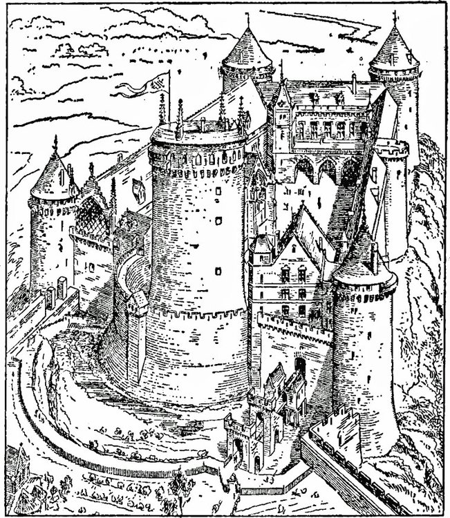 Coloring page Castle of Coucy