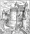 Coloring pages Castle of Coucy