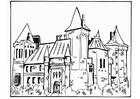 Coloring pages castle