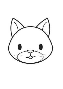 Coloring page Cat Head