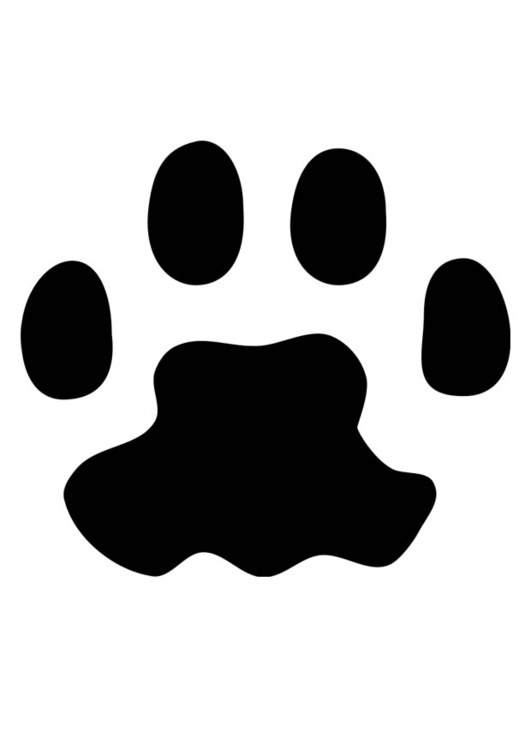 Coloring page cat's paw