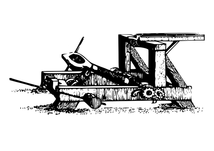 Coloring page catapult