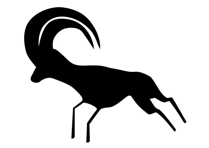 Coloring page cave painting - img 26328.
