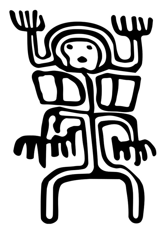 Coloring page cave painting - img 26332.