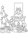 Coloring pages celebrate Christmas