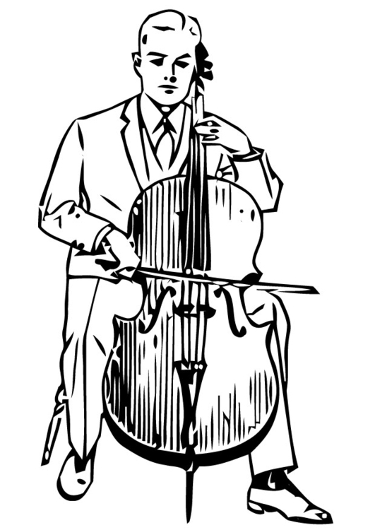 Coloring page cello - img 13293.