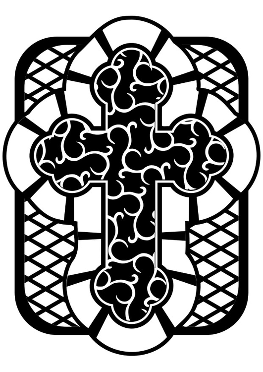 Celtic Cross coloring page Free Printable Coloring Pages ... | 750x531