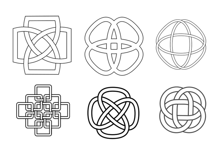Coloring page Celtic knots