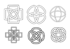Coloring page Celtic knots