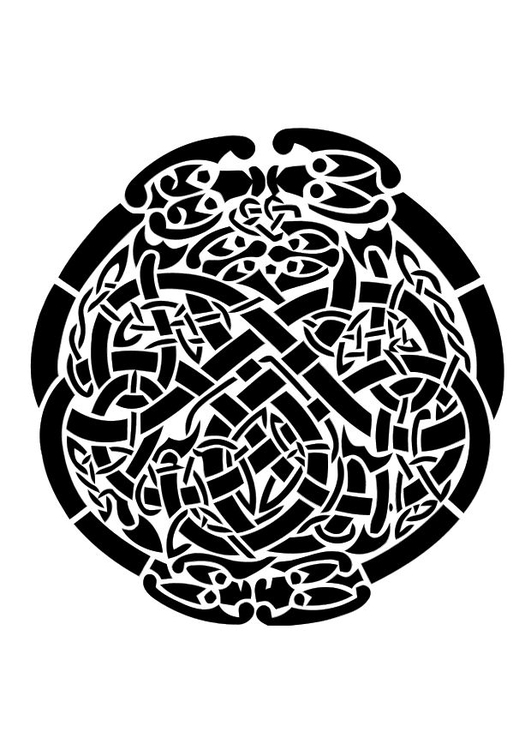 Coloring page celtic motief