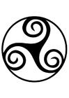 Coloring page Celtic symbol - spiral triskele