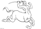 Coloring pages Centaur
