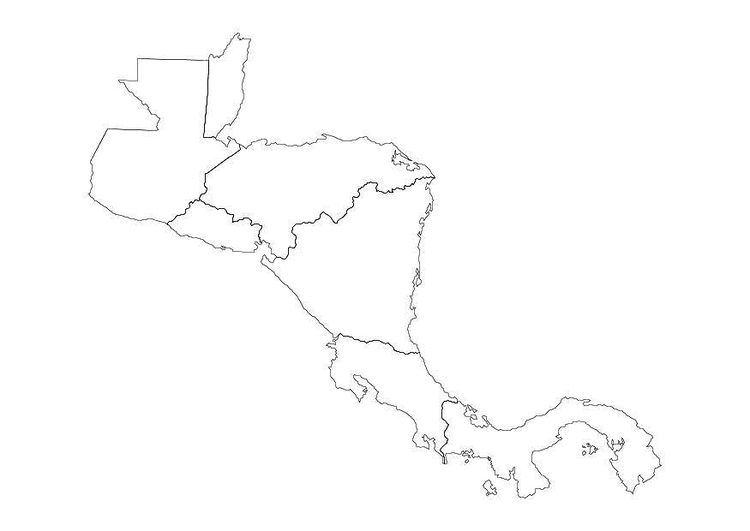Coloring page central america - img 10689. Images