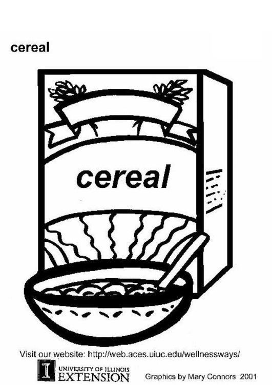 Coloring page cereal