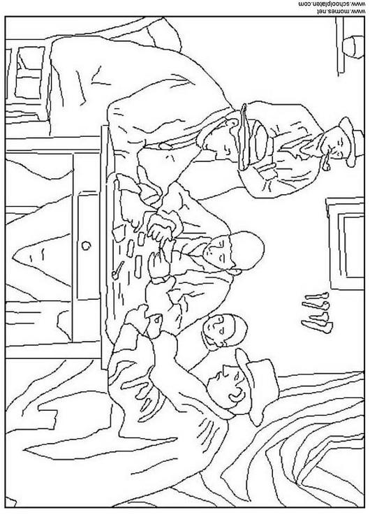 Cave Painting Coloring Page