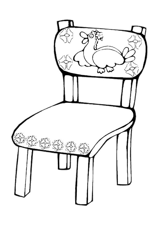Coloring Page Chair Img 10619 Images