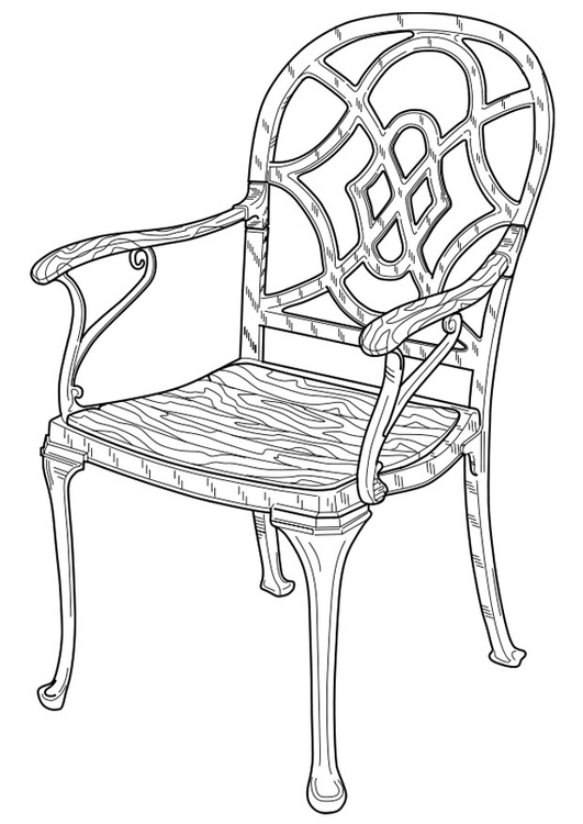Coloring page chair