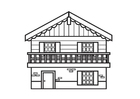 Coloring pages chalet