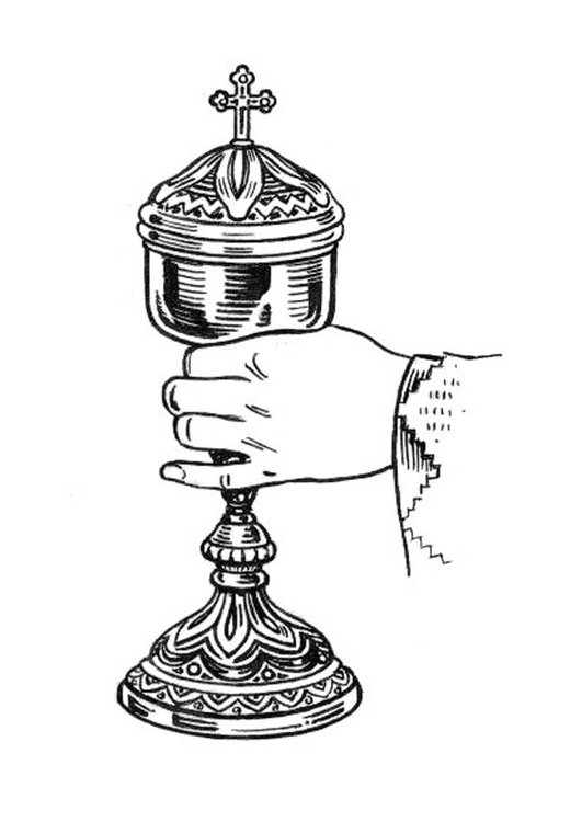 Coloring page chalice