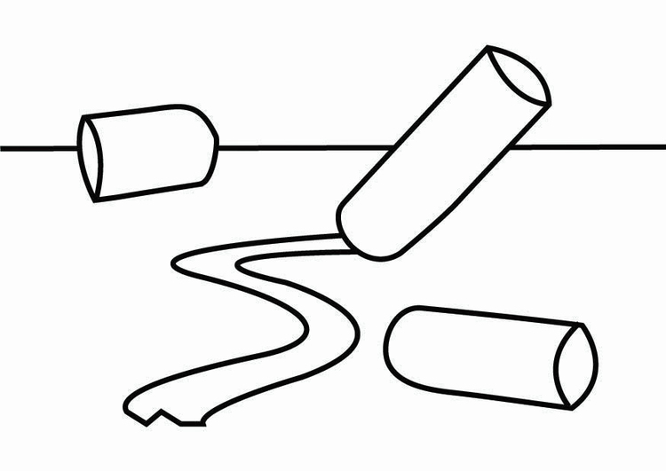Coloring page chalk corner