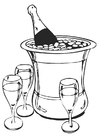 Coloring pages champagne