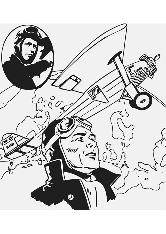 Coloring page Charles Lindbergh
