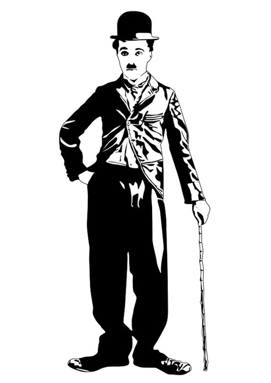 Coloring Page Charlie Chaplin Free Printable Coloring Pages Img 22452