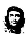 Coloring pages Che Guevara