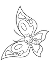 Coloring page cheerful butterfly