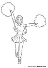 Coloring pages cheerleader