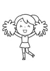 Coloring pages cheerleading