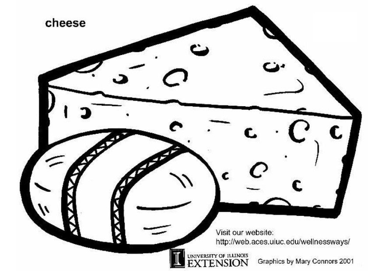 Coloring page cheese
