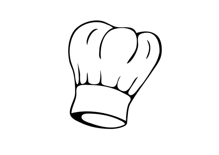 Coloring page chef's hat