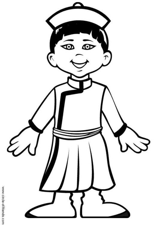 Coloring page Chen from China