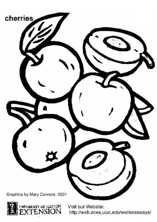 Coloring page cherries