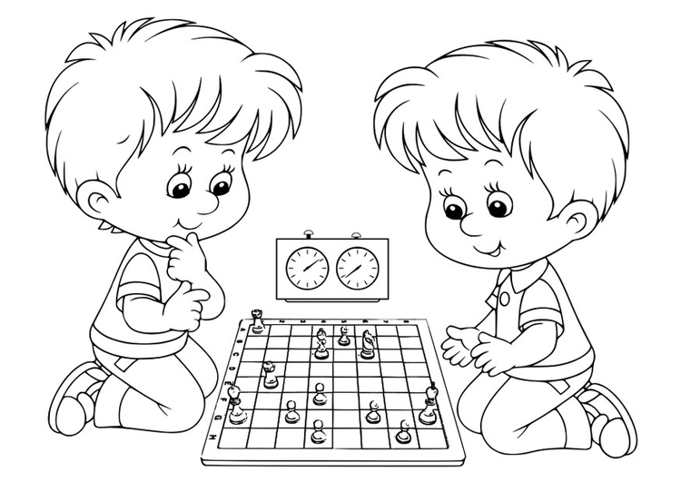 chess coloring pages downloads - photo#16