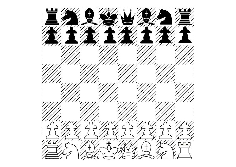 Coloring page chess