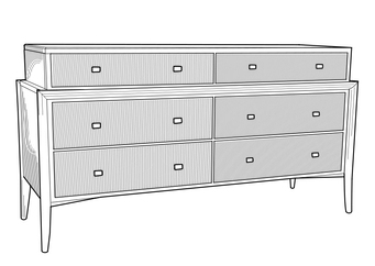 Coloring page chest of drawers