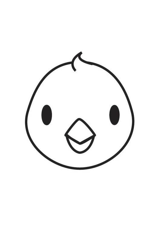 Kleurplaat Paasei Leeg Coloring Page Chick Head Free Printable Coloring Pages