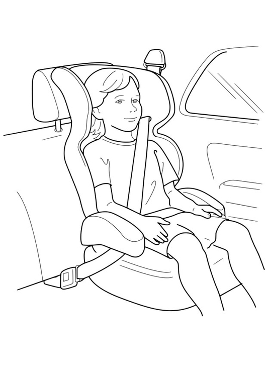 Coloring page child's seat
