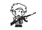 Coloring pages child soldier