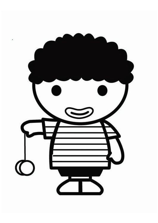 coloring page child with yoyo - Coloring Page Yoyo