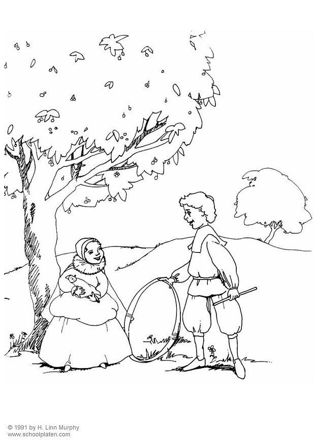 coloring pages for adults. Coloring page children dressed